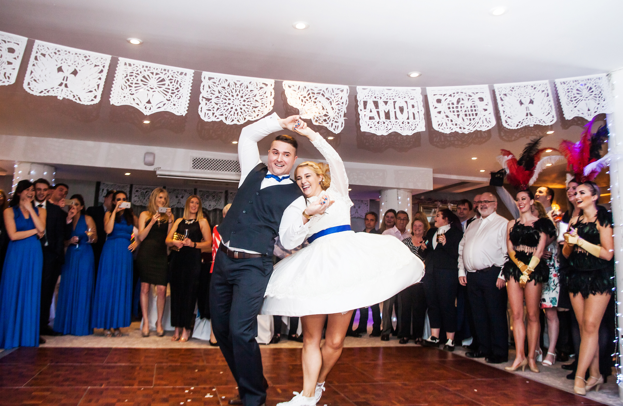 Richmond Hill Hotel Wedding bride and groom first dance